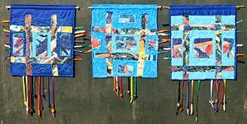 three prayer flags by Lana Bobele