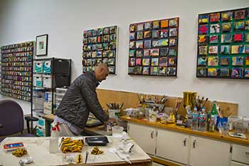 Byron Spicer in his studio