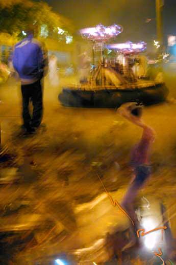 hovercraft in street