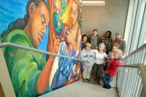 Mural crew at True Colors Mural