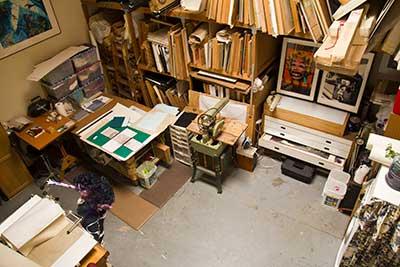 Oola in Jan Dove's studio