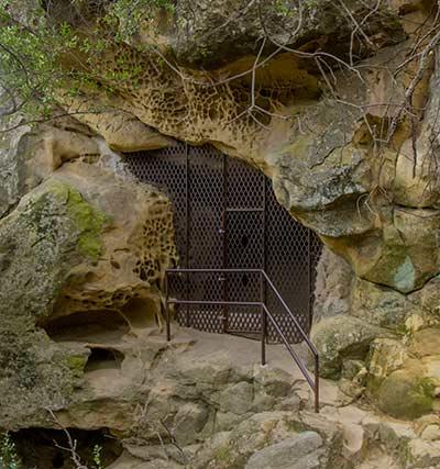 Chumash cave gate