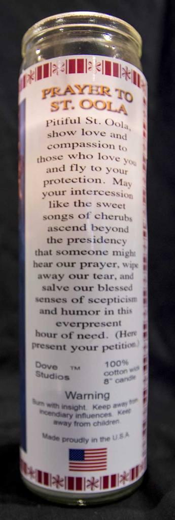 St. Oola candle