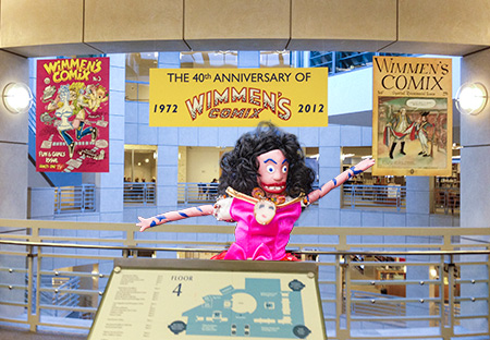 Oola at the Wimmen's Comix Opening