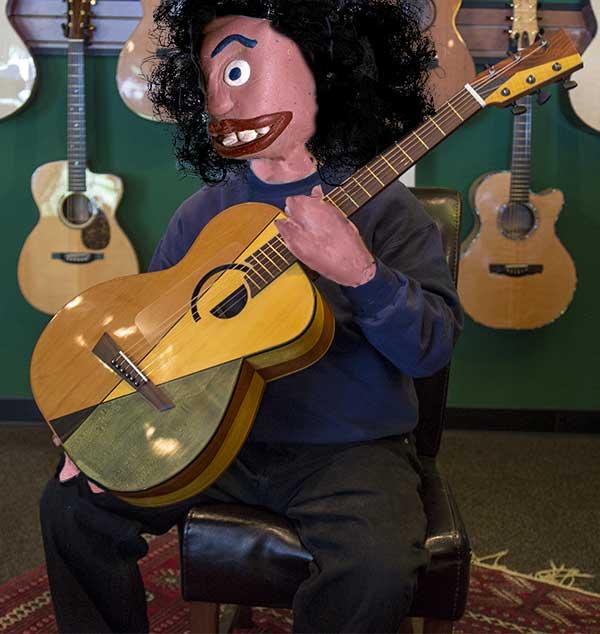 """Michael Dunn's """"Cubist"""" guitar"""