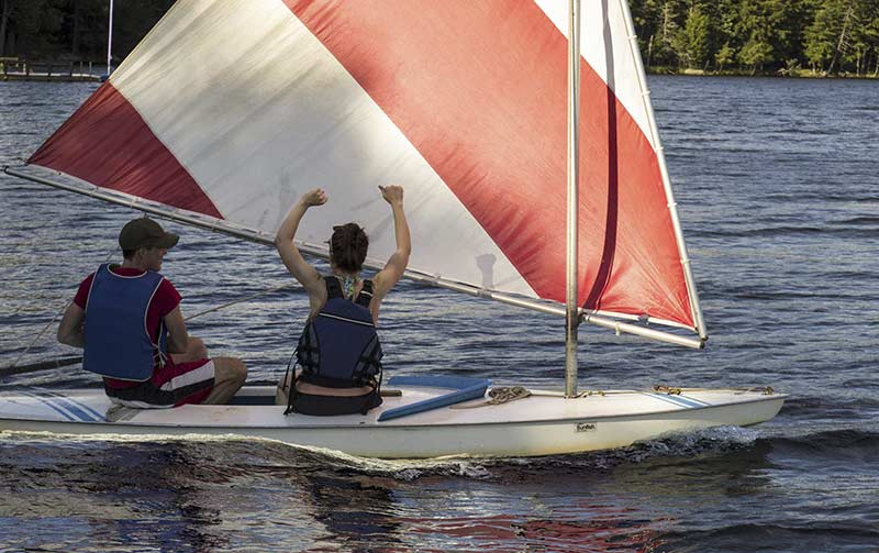 Learning to sail on Blue Mountain Lake