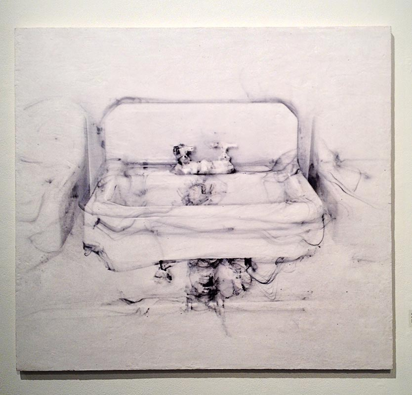 """""""Sink"""", print on wax surface"""