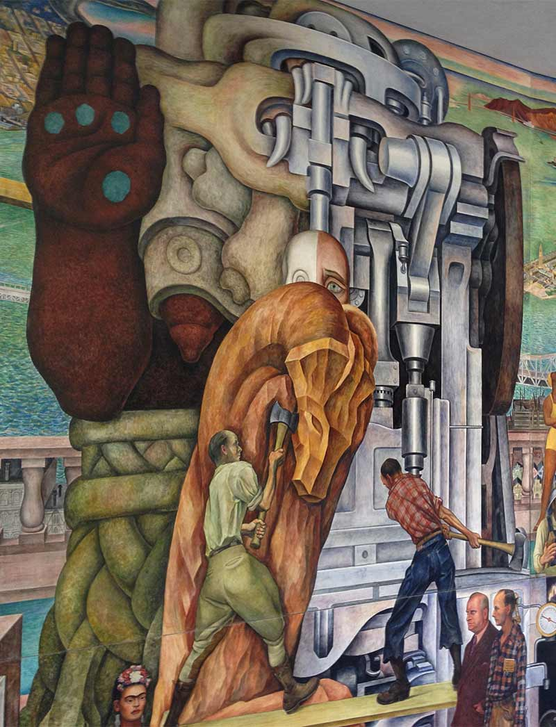301 moved permanently for Diego rivera first mural