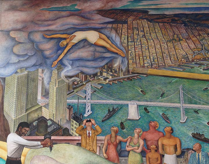 Pan american unity mural diego rivera at city college of for Diego rivera mural in san francisco