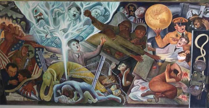 Section of Diego Rivera's mural at CCSF