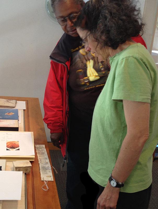 Judy shows Momo her exquisite book of Kadish.