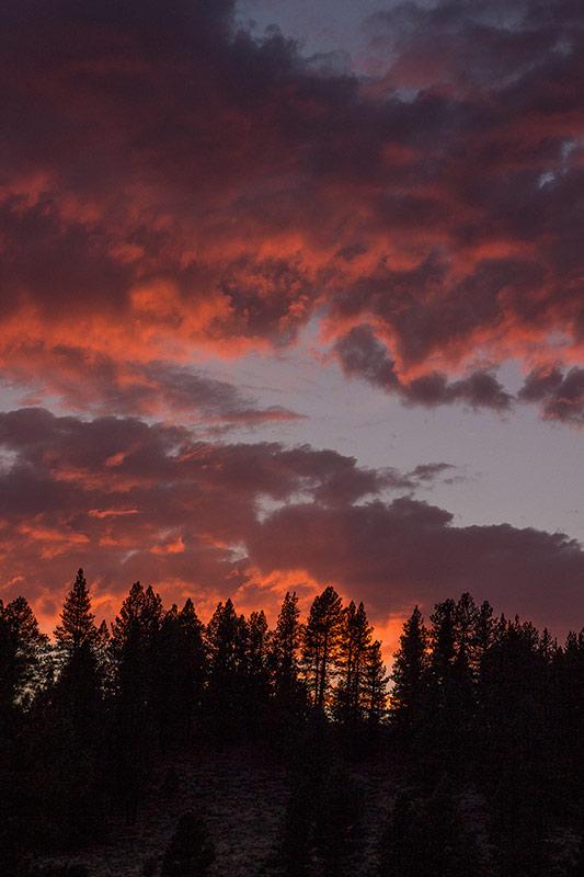 Sunset at Prosser Reservoir