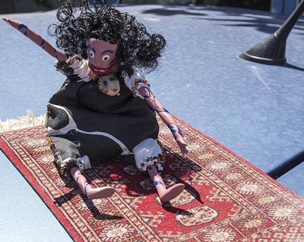 Oola on magic carpet