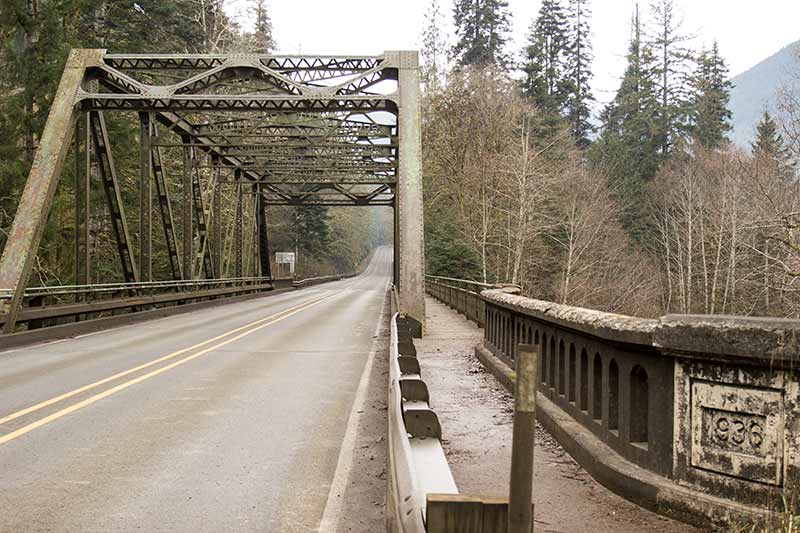 Quinault River bridge