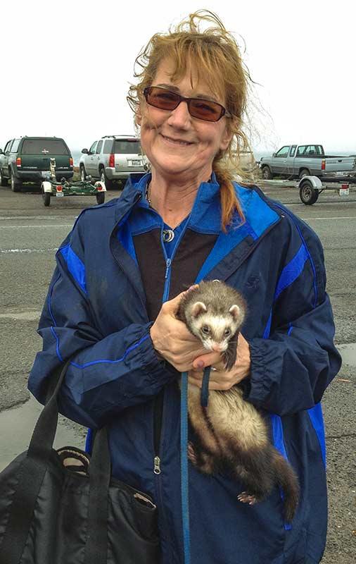 Cheryl and her ferret
