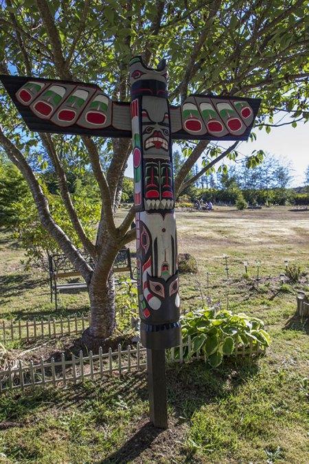 Makah graveyard sculpture