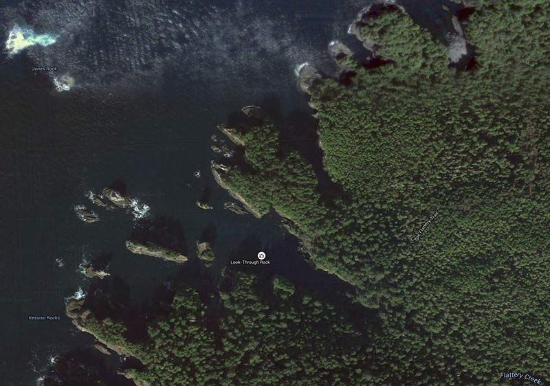 Cape Flattery as seen from the air