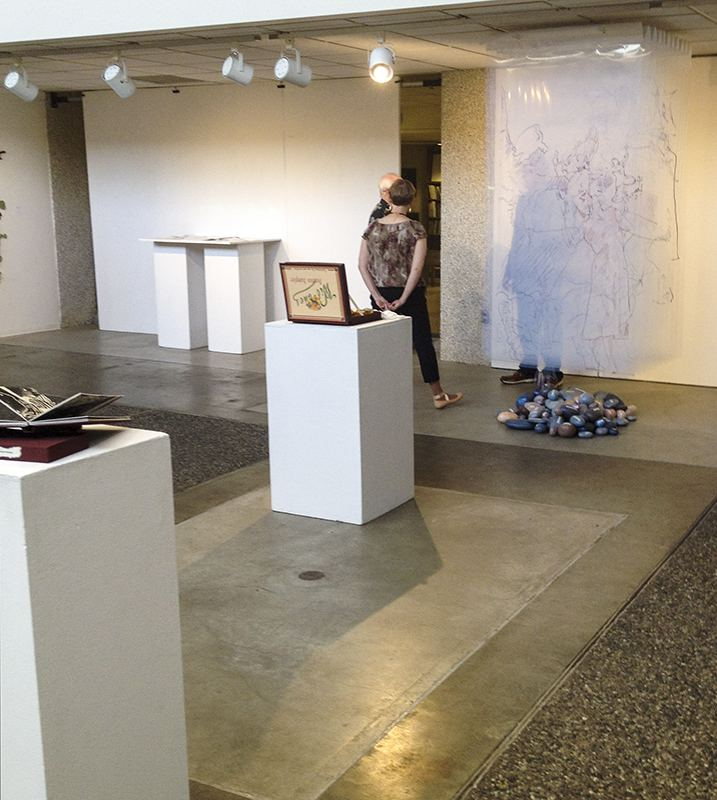View of Artist Book show at Robert Graves Gallery