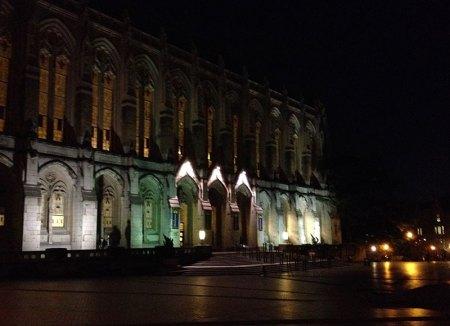 Suzzallo Library, UW after dark