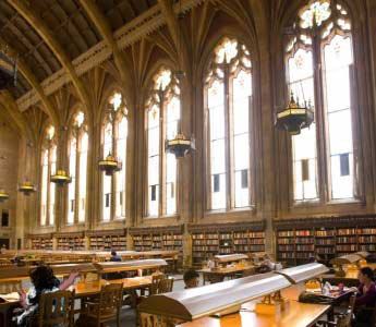 Oola trying out the Suzzallo Library