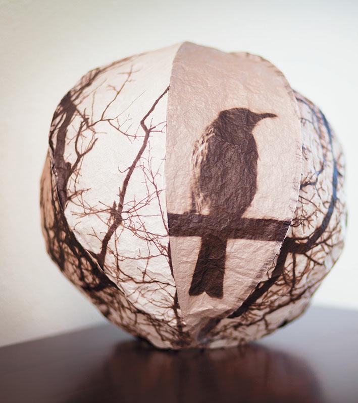 inflatable ball construction by Helen Hiebert