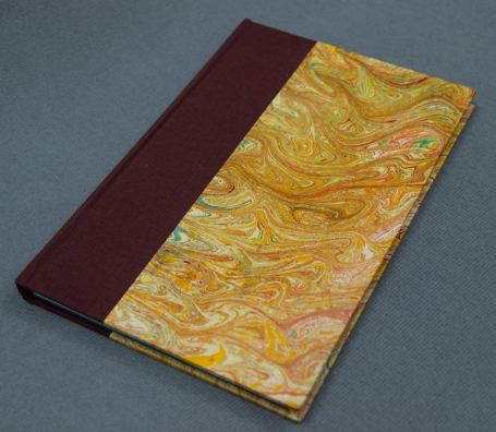 Journal made with marbleized paper.