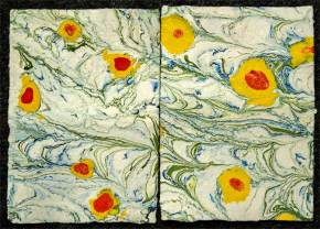 Marbled on handmade paper